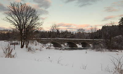 Photograph - Bridge In Winter by Josef Pittner