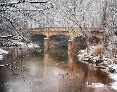 Photograph - Bridge In Winter  by Richard Kopchock