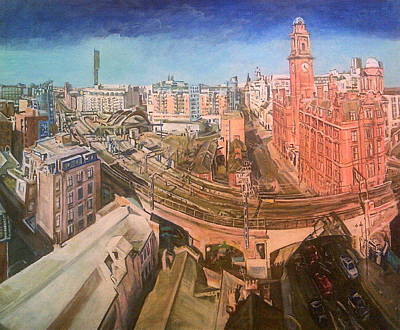 Painting - Bridge Into Oxford Road Station, Manchester by Rosanne Gartner
