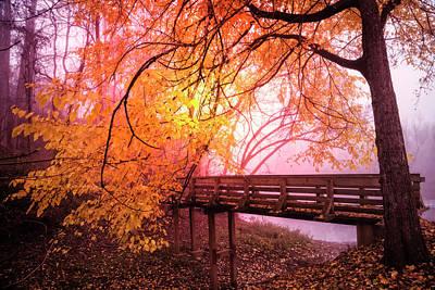 Photograph - Bridge Into The Magic Of Autumn by Debra and Dave Vanderlaan