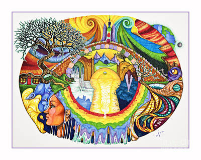 Chakra Rainbow Drawing - Bridge by Jaeme Case
