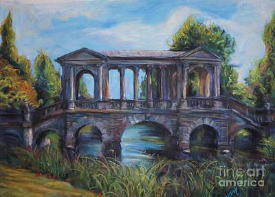 Drawing - Bridge by Jieming Wang