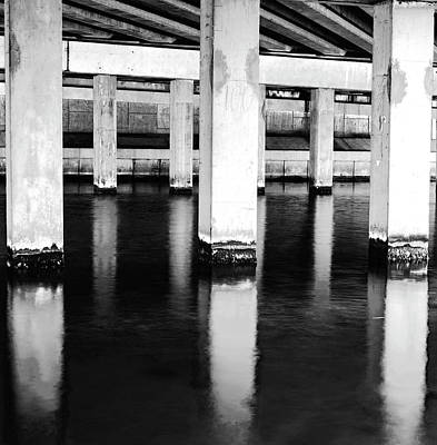 White Photograph - Bridge Lines by Michael Frizzell