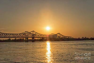 Photograph - Bridge Natchez At Sunset by Patricia Hofmeester