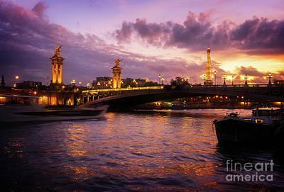 Photograph - Violet Night In Paris by Anastasy Yarmolovich