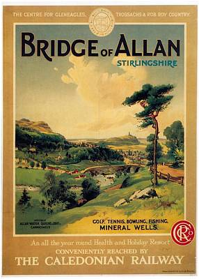 Royalty-Free and Rights-Managed Images - Bridge of Allan, Stirlingshire - The Caledonian Railway - Retro travel Poster - Vintage Poster by Studio Grafiikka