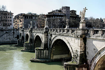Photograph - Bridge Of Angels - Rome by Daniel Hagerman