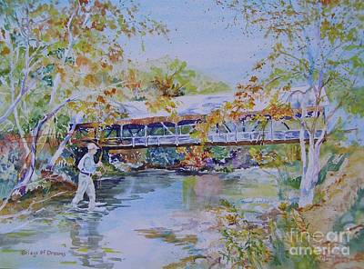 Painting - Bridge Of Dreams by Mary Haley-Rocks