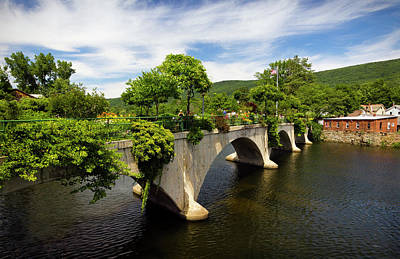 Shelburne Falls Photograph - Bridge Of Flowers Shelburne Falls, Ma by Betty Denise