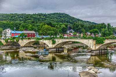 Shelburne Falls Photograph - Bridge Of Flowers, Shelburne Falls Ma by Ina Kratzsch