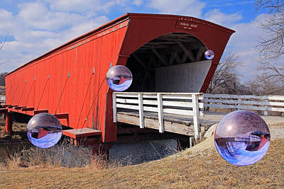 Hogback Bridge Photograph - Bridge Of Madison County Visitors by Christopher McKenzie