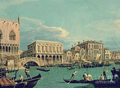 Bridge Of Sighs Art Print by Canaletto