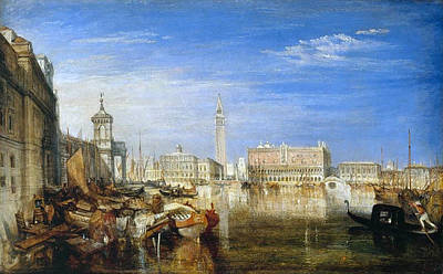 Venice Painting - Bridge Of Sighs, Ducal Palace And Custom-house, Venice by JMW Turner