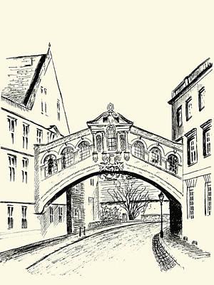 Drawing - Bridge Of Sighs by Elizabeth Lock