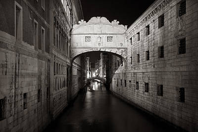 Photograph - Bridge Of Sighs In The Night by Marco Missiaja