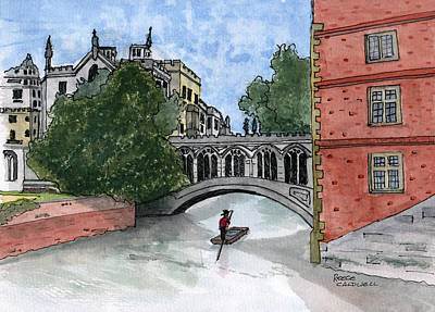 Cambridge University Painting - Bridge Of Sighs by Reece Caldwell