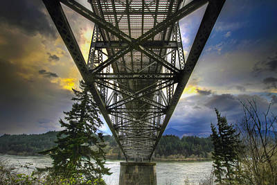 Sky Photograph - Bridge Of The Gods by David Gn