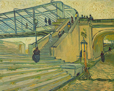 Staircase Painting - Bridge Of Trinquetaille by Vincent van Gogh