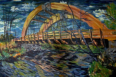 Painting - Bridge On County Rd. 27 by Denny Morreale