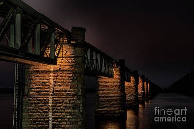 Bridge On Holy River Godavari Art Print