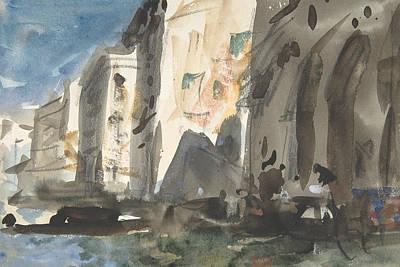 Drawing - Bridge On The Grand Canal, Venice by Treasury Classics Art