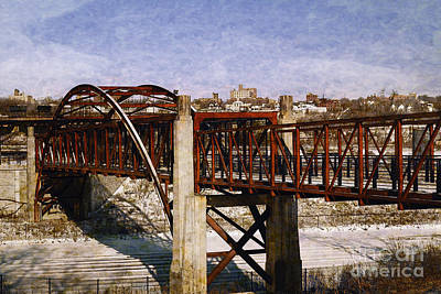 Digital Art - Bridge On The Hank Aaron Trail by David Blank