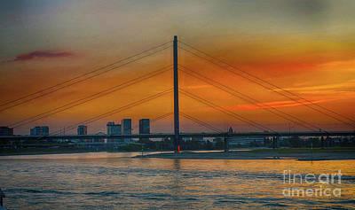 Photograph - Bridge On The Rhine River by Pravine Chester