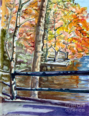 Mothers Painting - Bridge On The Water  by Harriet Davidsohn
