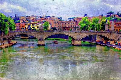 Brian Lukas Photograph - Bridge Over The Tiber River by Brian Lukas