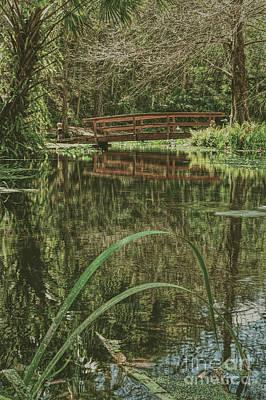 Palatka Bridge Photograph - Bridge Over A Pond by Marvin Reinhart