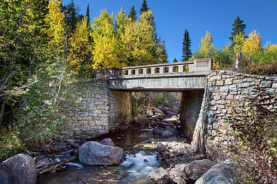 Photograph - Bridge Over Autumn Waters by James BO Insogna