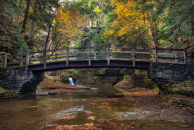 Bridge Over Buttermilk Creek Art Print by Mark Papke