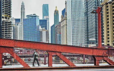 Photograph - Bridge Over Chicago River by Steve Archbold