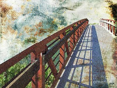Bridge Over Clouds Art Print
