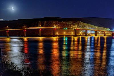 Bridge Over Columbia Waters Art Print