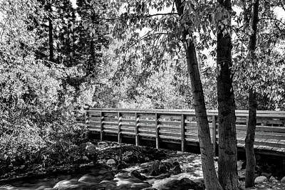 Photograph - Bridge Over Creek by Maria Coulson