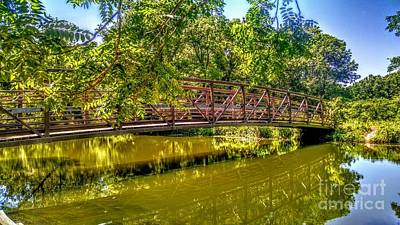 Bridge Over Delaware Canal At Colonial Park Art Print
