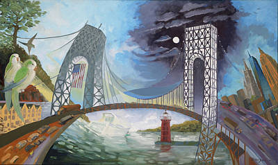 Brian Jones Painting - Bridge Over Essennel by Brian Jones