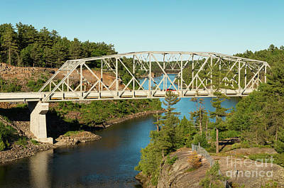 Photograph - Bridge Over French River by Les Palenik