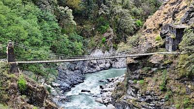 Photograph - Bridge Over Ganges Gorge by Kim Bemis