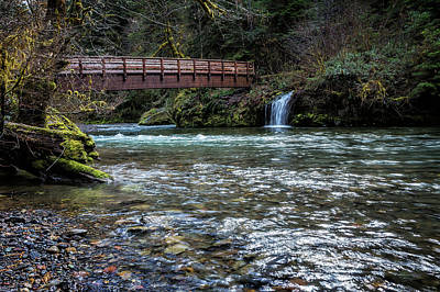 Photograph - Bridge Over Hackleman Creek by Belinda Greb