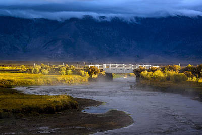 Photograph - Bridge Over Hot Creek On A Cloudy Day by Joe Doherty