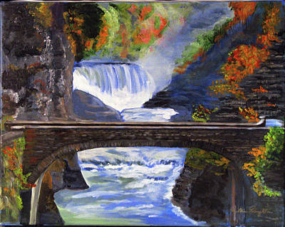 Painting - Bridge  Over Hunters Creek by Bill Houghton