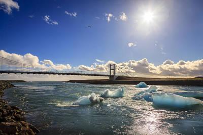 Europe Photograph - Bridge Over Jokulsarlon Lagoon by Alexey Stiop