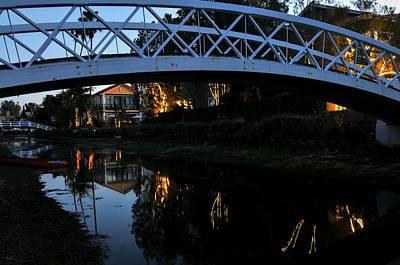 Photograph - Bridge Over Lights by Richard Omura