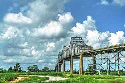 Photograph - Bridge Over Mississippi River by Ronald Olivier