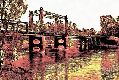 Digital Art - Bridge Over Murray River by Fran Woods