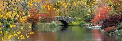 Photograph - Bridge Over Peaceful Water by Autumn Scenes