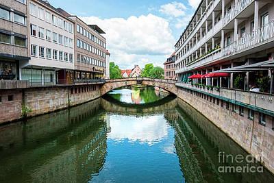 Bridge Over Pegnitz River_6548 Art Print