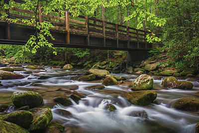 Photograph - Bridge Over Rocky Water by Reid Northrup